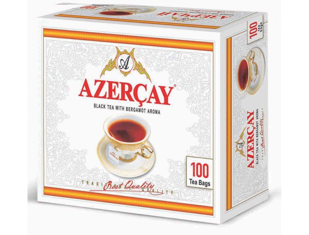 Azercay Black Tea with Bergamot Aroma Disposable Tea Bags - Packed - 200 gr