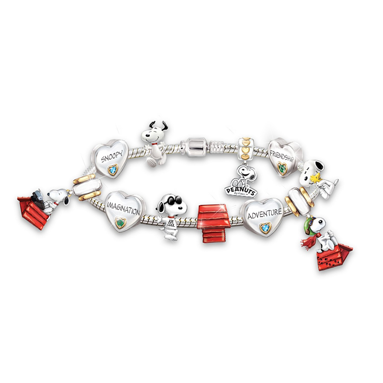 Women's Bracelet: The Adventures Of Snoopy Charm Bracelet by The Bradford Exchange