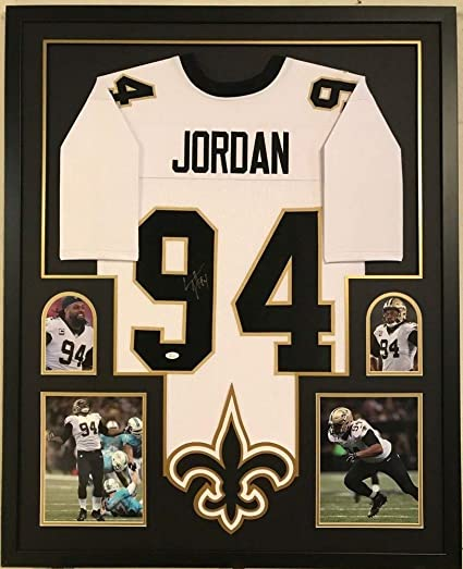 a20f04c5212 Image Unavailable. Image not available for. Color: Framed Cameron Jordan  Autographed Signed New Orleans Saints Jersey - JSA Authentication