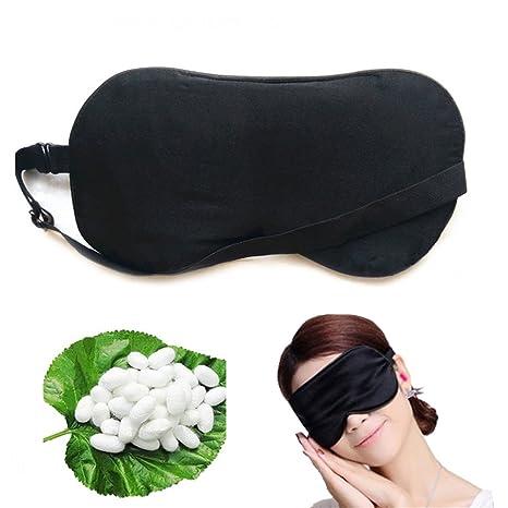 Seda máscara de dormir, bloqueo de luz suave Pure tela de seda natural y puro