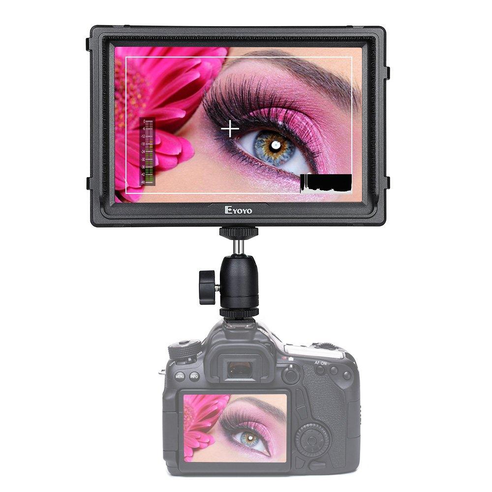 E7S 7 Inch DSLR Camera Field Monitor 1920x1200 IPS Camera-top Screen Supports 4K HDMI Input and Output For SONY A7S II A6500 Panasonic GH5 Canon 5D Mark Camera with F970 LP-E6 Battery Plate