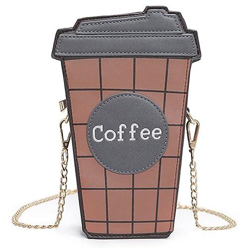2d237a25ef71 D-Sun Girls Love Cute Cartoon Coffee Mini PU Leather Bag Crossbody ...
