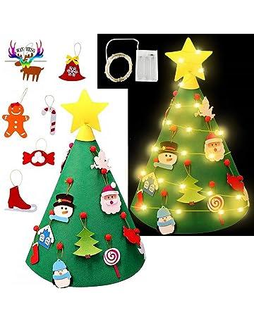 Gudotra Árbol de Navidad Tridimensional Árbol de Navidad DIY Árbol de Navidad Pequeño Colgante para Niños