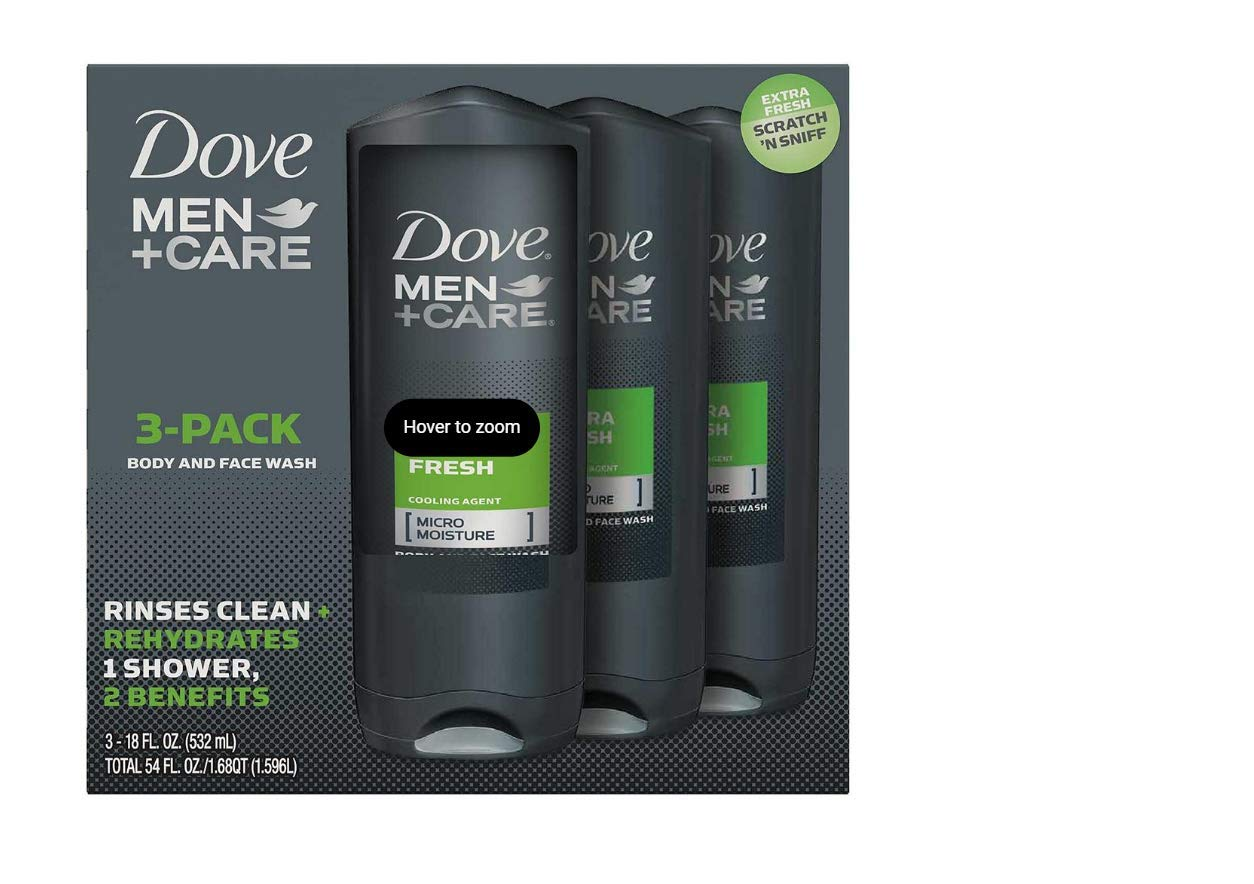 Amazon Com Dove 1169195 Mens Body Wash Extra Fresh 18 Oz Pack Of 3 Industrial Scientific