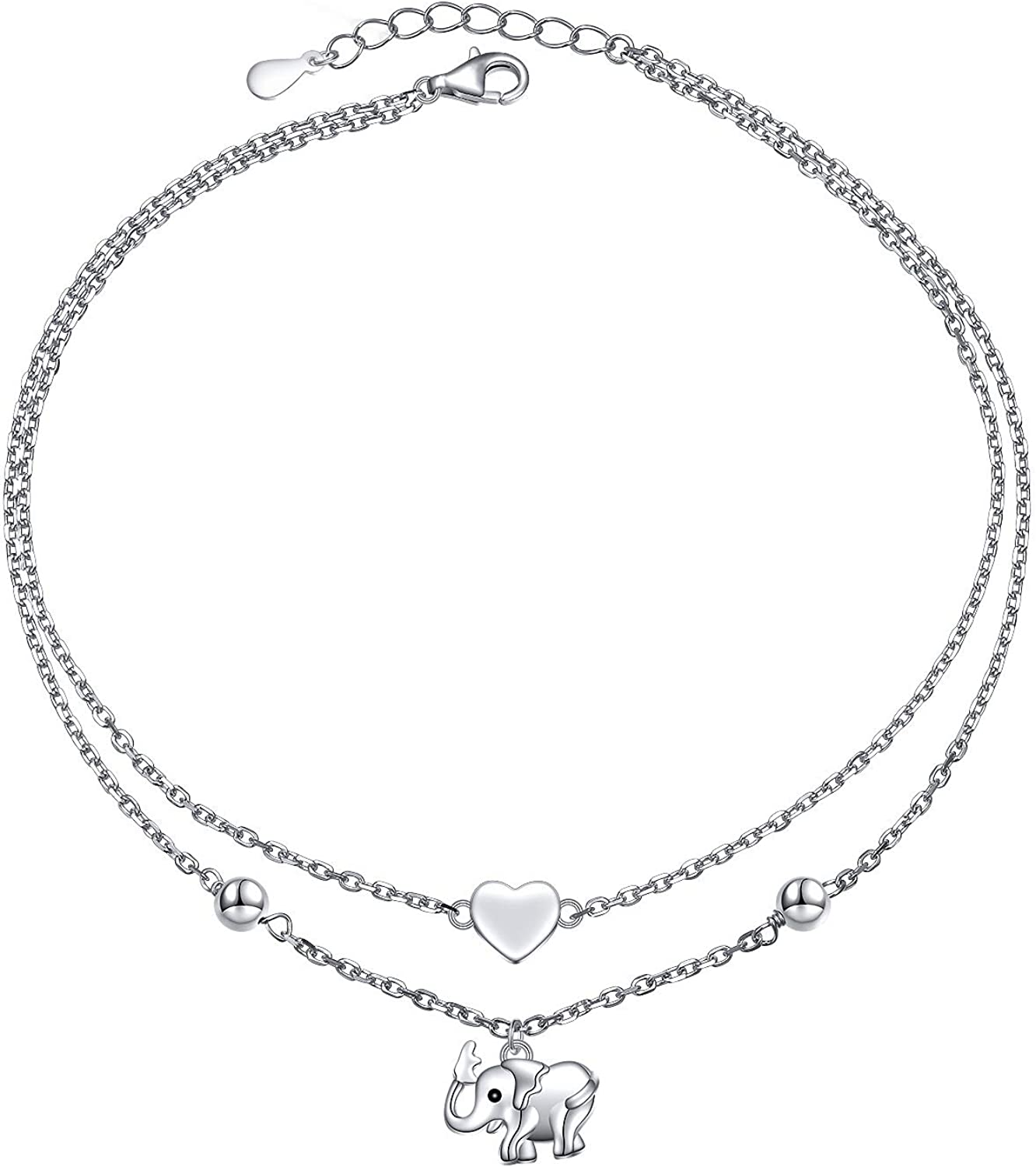 bridesmaid anklets personalized gifting foot bracelet light weight anklet nank220 10.5 925 solid sterling silver gorgeous ankle bracelet