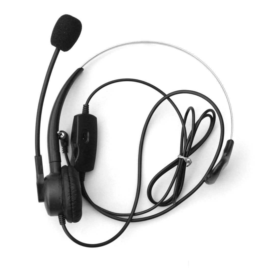Comdio 2.5mm Call Center Telephone Headset Headphone with Mic + Volume Mute Controls for Grandstream AT&T TL88002 TL86103 TL86003 TL76108 TL7610 TL88102 TL86109 TL86009 with 2.5mm Socket(H103VP7)