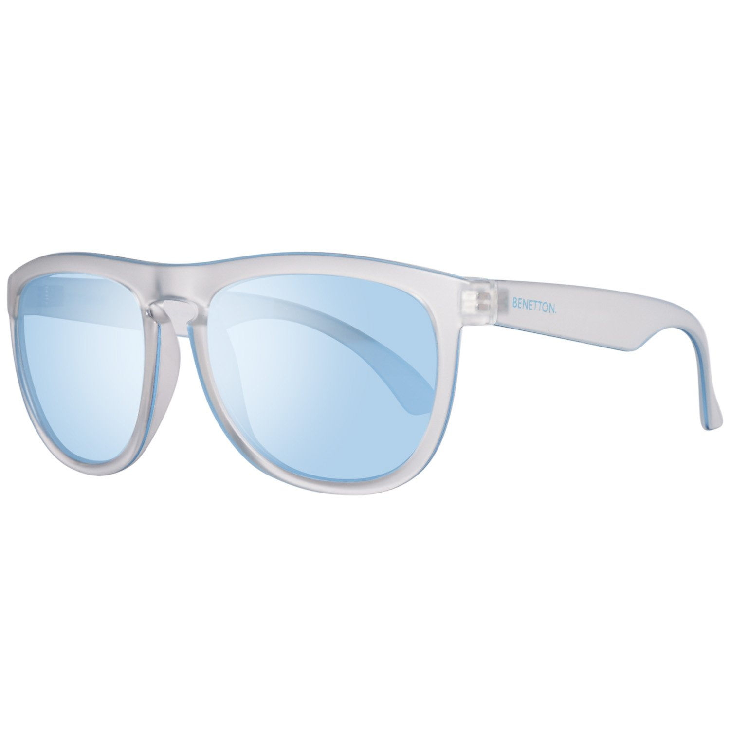 BENETTON Men's BE993S03 Sunglasses, Transparent (Crystl), 55 BE-993S-03_CRYSTAL-55