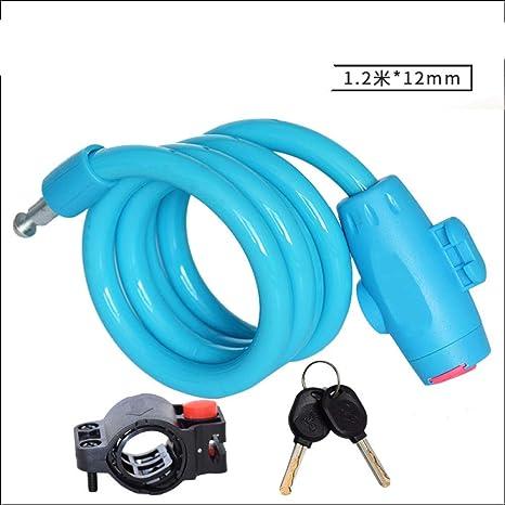 HMGHBMG - Candado para Bicicleta (Cable de Acero con Cadena de ...
