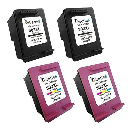 Bette - Recargar HP 302 X L f6u67 a f6u68 a cartucho de tinta para ...