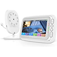 Baby Monitor, UOKIER 4.3'' Video Baby Monitor with Camera and Audio, 1000ft Range, VOX Mode, Two-Way Audio, Night Vision, Zoom, Temperature Monitoring, Lullabies