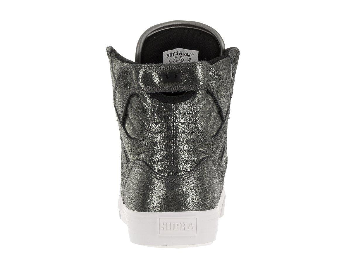 Supra Mens Skytop Pewter Metalic//White Skate Shoe 9 Men US