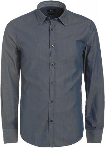 BOSS BLACK MEN - Camisa casual - para hombre azul Small ...