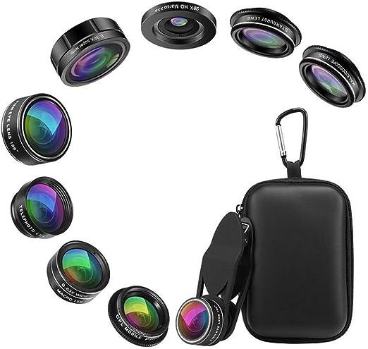 teléfono Cámara Lentes filtros objetivos Lentes Smartphone ,9 en 1 ...