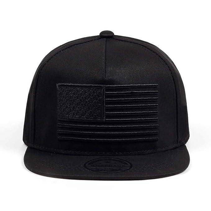 Baseball Cap Mens Gorras Snapbacks 3D Flag Hat Ourdoor Hip Hop Snapback Cap Black