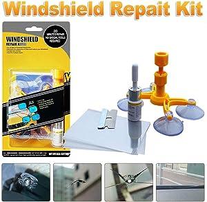 YOOHE Windshield Repair Kit - Car Windshield Repair Kit for Automotive Glass Windshields Chips, Cracks, Bulls-Eye, Star-Shaped and Half-Moon Cracks