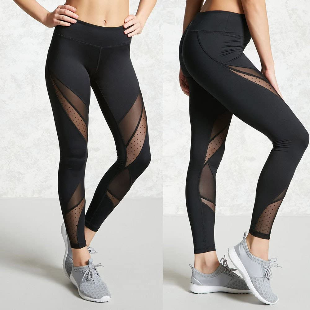 Logobeing Mallas Deporte Mujer Leggins Pantalones Deportivos El/ásticos de Cintura Alta Mujeres de Cintura Alta Yoga Fitness Polainas Correr Gimnasio Pantalones Deportivos Stretch