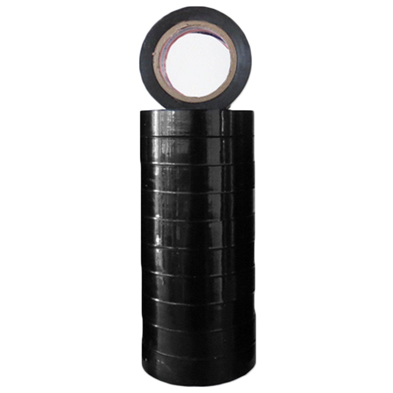Gosear 10 Rollos de Cintas de PVC Cable elé ctrico Cinta Adhesiva Aislante para Cables elé ctricos Proyectos 49.21ft Negro
