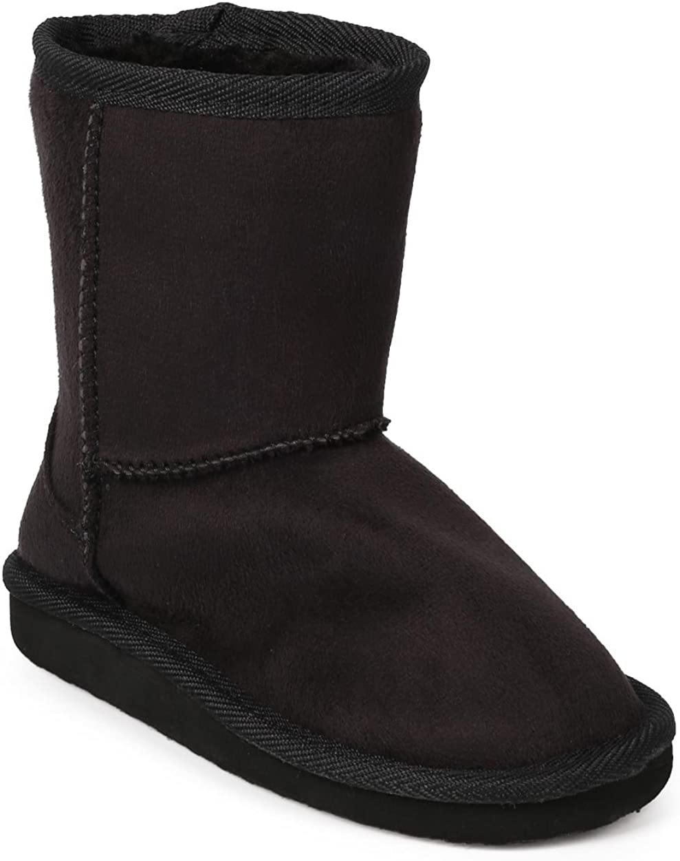 EJ99 Toddler Girl Suede Round Toe Fur Lining Classic Winter Boot