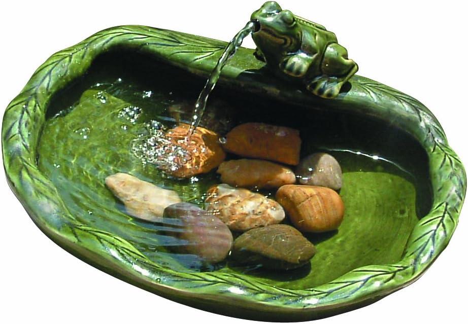 Smart Solar ceramic Powered Frog Fountain