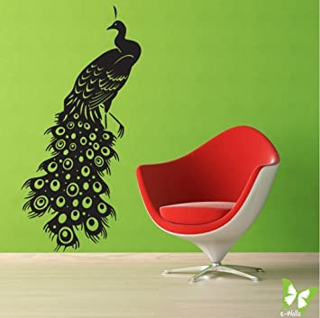 2444fe0f3be Buy Decals Design  Indian Peacock  Wall Sticker (PVC Vinyl
