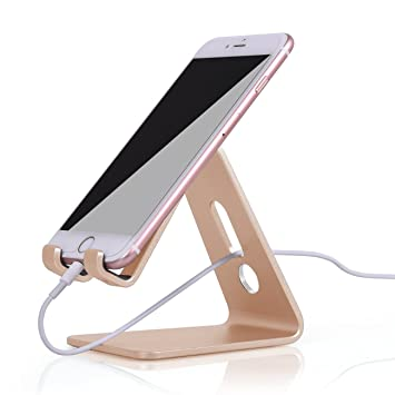 iVoler Soporte móvil Mesa teléfono, Apoya Aluminio Tablet Stand Universal Soporte Smartphone para Nintendo Switch, iPhone,Samsung,iPad,Huawei,LG,HTC ...