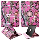 Pink Camo RGHT Kindle Fire HD 8.9 (will not fit HDX 8.9) PU (Poly) Synthetic Leather 360 Rotating Case Cover Hard Phone Case Snap-on Cover Rubberized Touch Faceplates