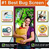 Magnetic Screen Door, Instant & Quick Install Mesh Curtain, Comes with Auto Close Magnets, Pet & Toddler Friendly, Walk Through Hands Free, Fit 32