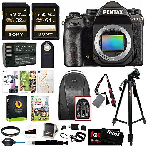 Pentax K-1 Full Frame DSLR Camera Body Only Ultimate Holiday Bundle