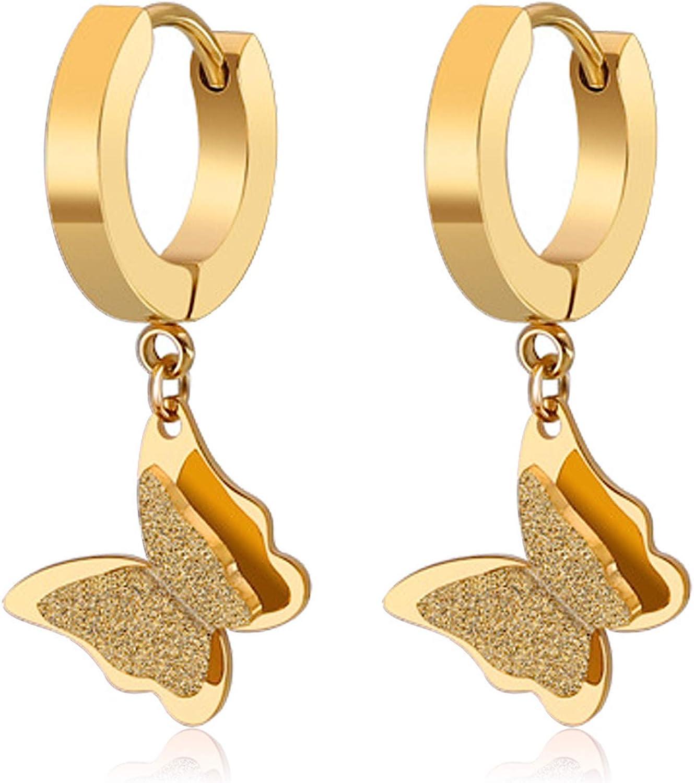 butterfly drop earrings butterfly dangle earrings butterfly hoop earrings Silver butterfly earrings silver butterfly on hoop earrings
