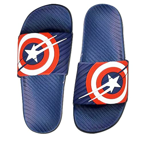 7db67e1a285b Hickup men s Captain america flip flop slipper (Blue)  Buy Online at Low  Prices in India - Amazon.in