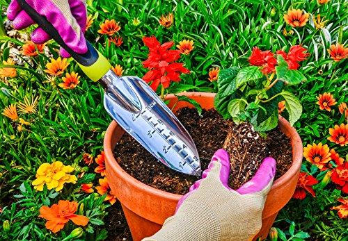 Homegrown Garden Tools 3-Piece Ergonomic Hand Gardening Tool Set