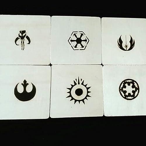 Woodburning Star Wars Coasters. Posavasos pirograbados.