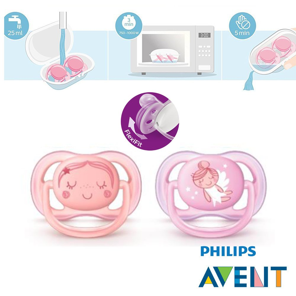 Philips AVENT Ultra Soft Air & Ultra Soft Chupete 0 - 6 mo ...