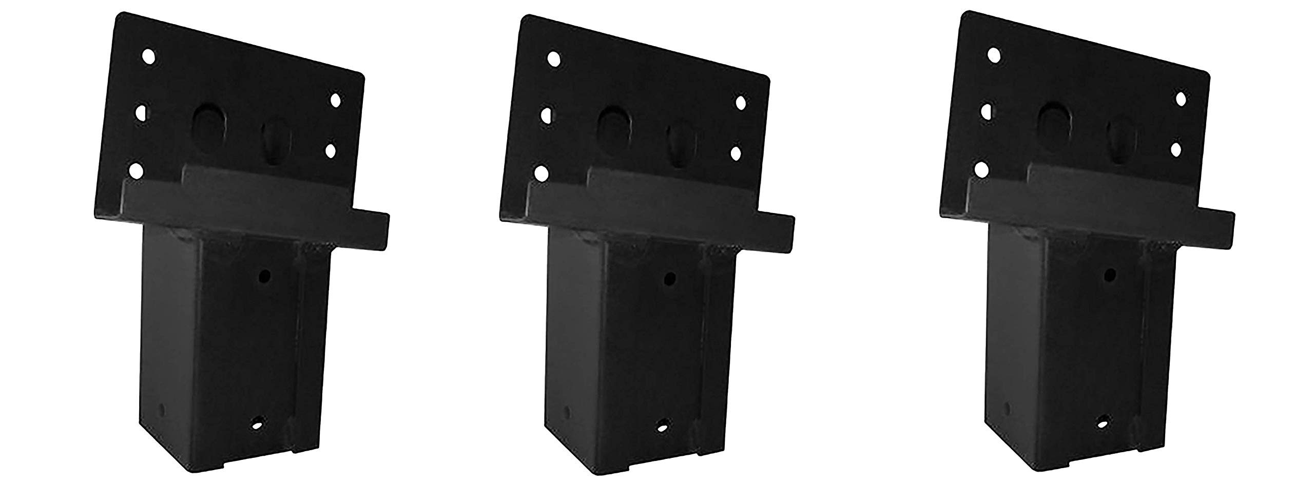Elevators 4x4 Brackets for Deer Blinds, Playhouses, Swing Sets, Tree Houses. Made in The USA with Premium Construction Grade Steel. (Set of 4) (Pack of 3)