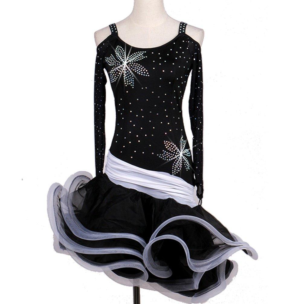 MoLiYanZi Netzhüllen Lateinisches Tanzkleid Für Frauen Schultergurte Professionel Wettbewerb Kleider Rückenfrei Latin Tanzen Outfit Mit Strass B07D7BRRKX Bekleidung Moderate Kosten