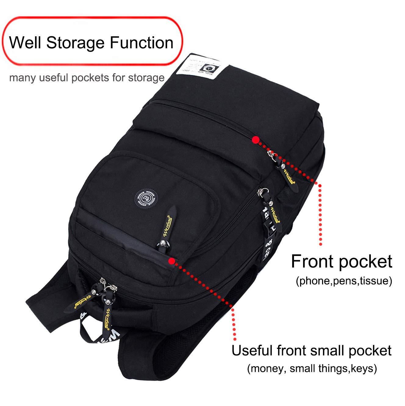 Mochila escolar para niñas niños negocios portátil vida impermeable mochila escolar senderismo mochila de viaje mochila de viaje (con una caja de ...