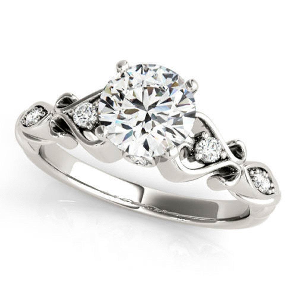 Rare 0.92 ct J-K Moissanite Engagement wedding Ring 925 Sterling Silver