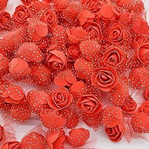 50 Pieces/Lot 3.5cm Mini Foam Rose Heads Artificial Silk Flowers For Home Garden DIY Pompom Wreaths Wedding Decor Supplies 100