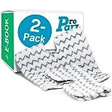 Shark Steam Mop Replacement Pads, Pack of 2 Microfiber Mop Pads for Shark Lift-