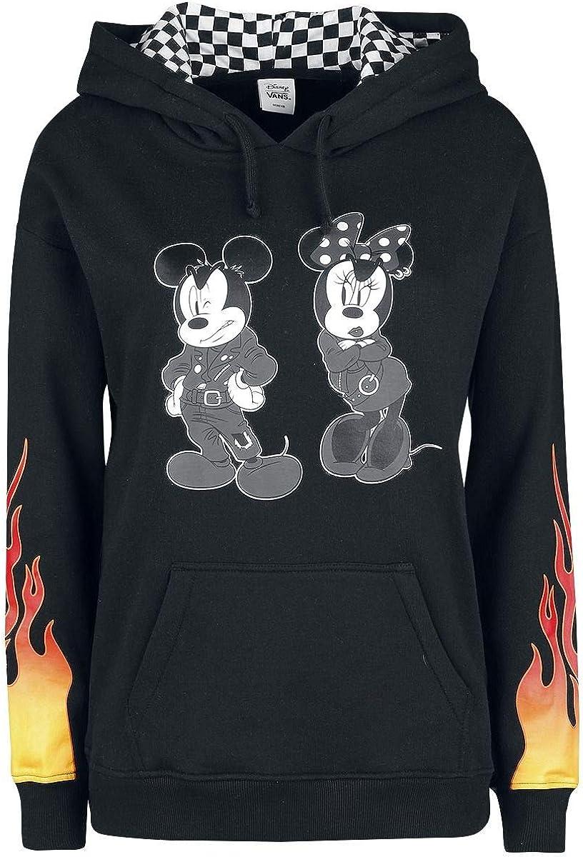Vans Disney Punk Mickey Jersey con Capucha Mujer Negro