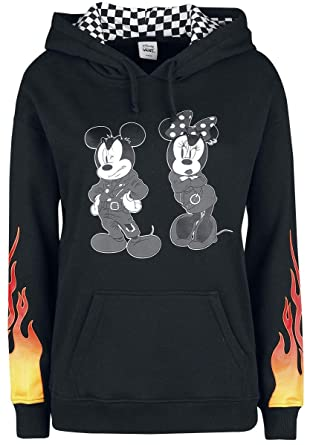 63fe957686 Vans Women s Disney X Punk Mickey Mouse Pullover Hoodie in Black (X-Large)