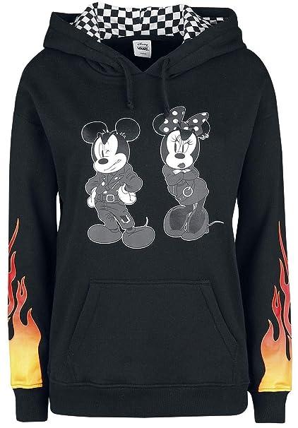 Vans Disney Punk Mickey Jersey con Capucha Mujer Negro S: Amazon.es: Ropa y accesorios
