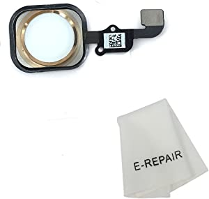 E-repair Home Button Key Flex Cable with Rubber Gasket Replacement for iPhone 6s and 6s Plus (Gold)