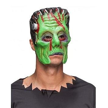 La mitad de la máscara de Frankenstein máscara verde del monstruo de Halloween Carnaval del partido
