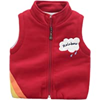 Happy Cherry Baby Boys Girls Winter Cotton Vest Cartoon Sleeveless Jacket 1-6T