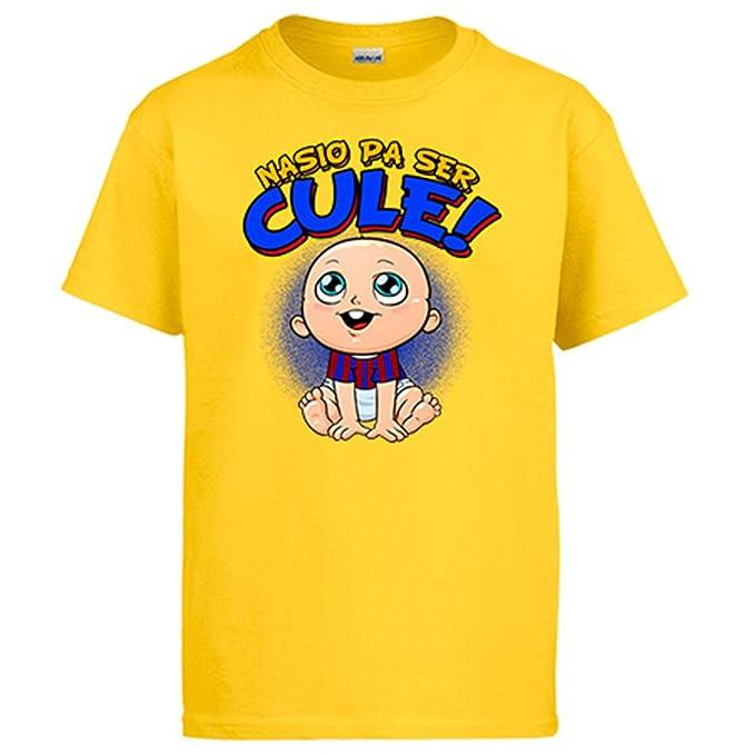 Diver Camisetas Camiseta Nacido para ser Culé Barcelona Fútbol: Amazon.es: Ropa y accesorios