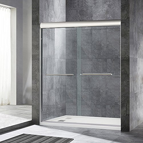 WoodBridge 60'' x 72'' Double Sliding Frameless Shower Door (56'' to 60'' by 72''), Chrome Finish, MSDE6072-C 2 by WoodbridgeBath