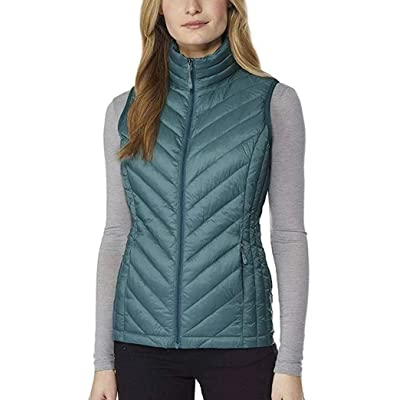 32 DEGREES Heat Womens Packable Vest (M, Cold Green) at Women's Coats Shop