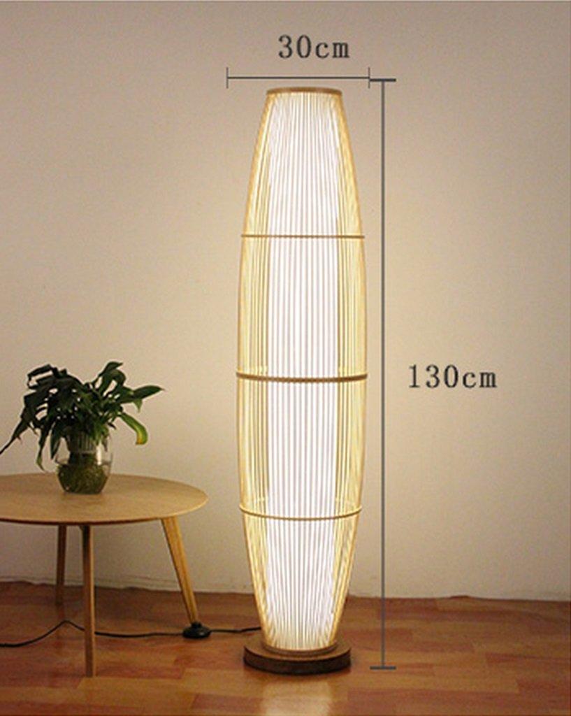 LFFLUODIDENG Ajustable Lámpara de pie, lámparas de bambú ...