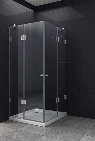 Puerta plegable ducha cabina antaro 90 x 75 cm, sin plato de ducha/Ducha Mampara de ducha pared: Amazon.es: Bricolaje y herramientas
